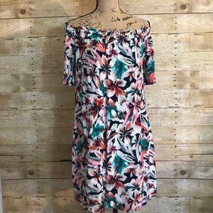 Ella Moss Tahiti Garden Off Shoulder Dress